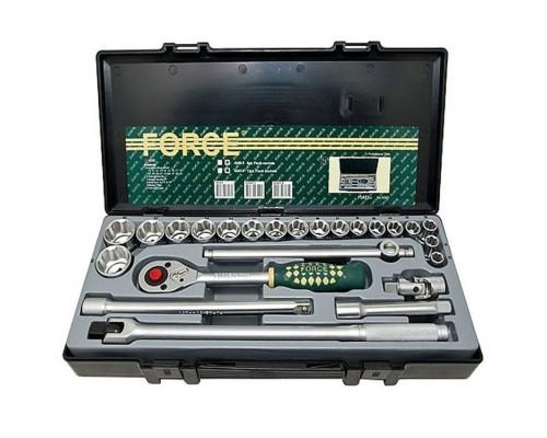 Набор дюймовых головок с трещоткой FORCE 4243S