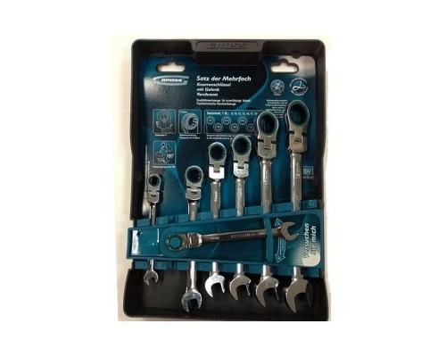 Набор ключей трещоточных шарнирных GROSS 14891